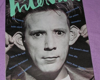 Andy Warhol Interview Magazine Johnny Rotten issue 1/1991