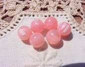 Baby Soft Pink Striated Vintage Lucite Beads