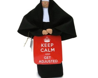 Nun doll Catholic gift-The Chiropractor, The Untwisted Sister