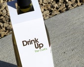 Personalized Wine Tags - Drink Up - Wine Tags - Bottle Tags