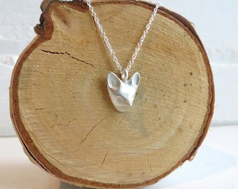 Little Fox Lover Sterling Silver Necklace.