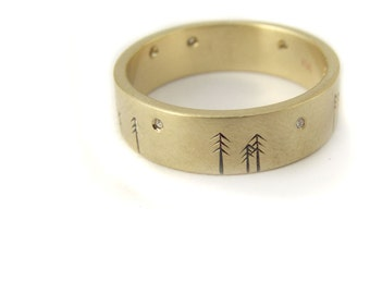 Diamond Engagement Ring, Wedding Band or Wedding Ring in 14kt Ethical Gold Eco Friendly