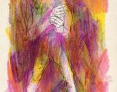 HOLIDAY SALE - Man of the Rainbows (original drawing, 2012)