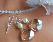 Bridal Earrings, Swarovski Pearls Crystals, Wedding Jewelry, Bridesmaids Gifts, Dangle Earrings