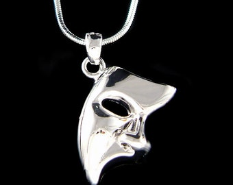 Phantom of the Opera Masquerade Mask Pendant Charm Necklace Christmas Best Friend Gift New