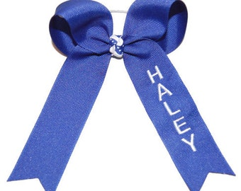 Basic One Color Custom Embroidered Cheer Bow