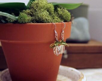 Blue Topaz Baby Orchid Earrings