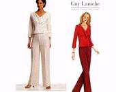 Guy Laroche Jacket and pants designer sewing pattern Vogue 2668 Vogue Paris Original Sz 14 to 18