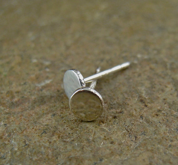 Items Similar To Modern Sterling Silver Stud Earrings