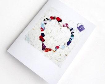 Valentines Card for your Knitting Sweetheart Original Tiny Socks Hand Knit Socks