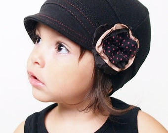 Fashion toddler hat with flower comfy children hat accessories for kids cotton hat for kids