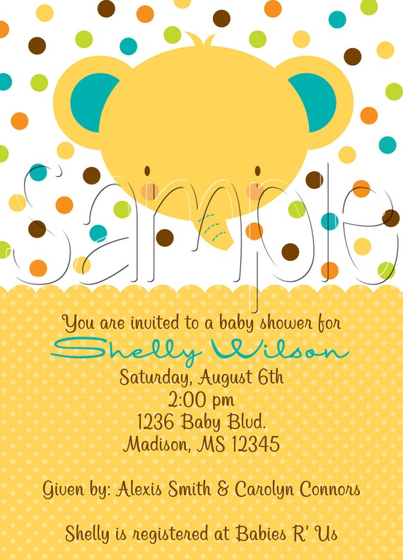 25 5x7 Bold Baby Shower Invitations Announcements