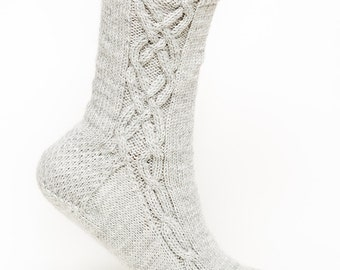 PATTERN ONLY Double Cross Side Cable Socks