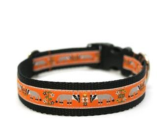 "1"" dog collar Honey Badger martingale or buckle collar"
