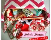 Gigantic Scrap Pack of designer quilt or craft Fabric Shoppe fabrics- 3 pounds of fabric