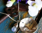 I Love You To The Moon and Back Necklace, sterling silver and moonstone