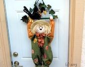 PDF Pattern, Primitive Scarecrow, Primitive Crow, Wall Hanging,  Door decoration