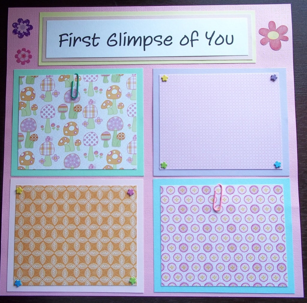 Scrapbook ideas for baby girl -  Scrapbook Pages Baby Girl 1st 12 Months Made To Order Zoom