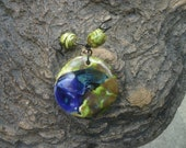 Butterfly Wing Heart Pendant with Matching Beads