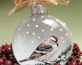 Personalize - Common RedPoll Ornament - Winter Bird Collection