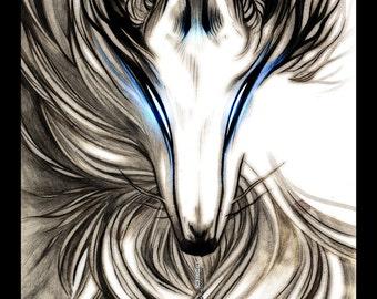 Winter Wolf Fox Dog Okami 18x24 FOIL Printed Poster