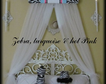 Bed Canopy Crib Crown Zebra Animal Print SaLe Embroidered Bedroom Decor SALE