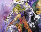 Final Fantasy Terra and Esper Watercolor and Ink Painting Reproduction - Video Game Art Print by Jen Tracy