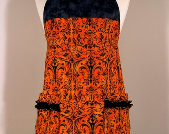 Alex - Halloween Damask Apron