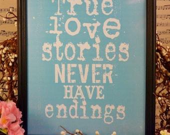 True love stories pdf sign - never have endings blue