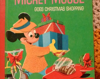 vintage mickey mouse goes christmas shopping little golden book 1953