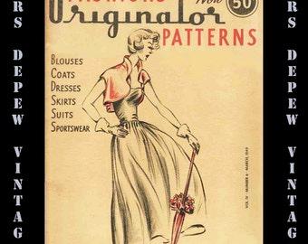 Vintage Pattern Catalog 1940's Originator March 1949 40 page Booklet Digital Ebook PDF -INSTANT DOWNLOAD-