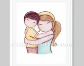 Baby boy nursery art, nursery decor, children wall art, kids decor, mother and son art, mothers day gift, brown blonde, Proud Of You