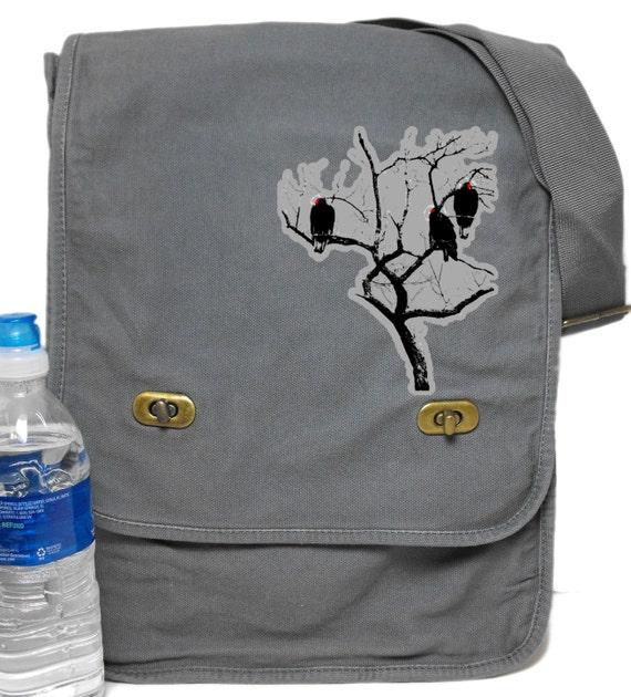 Field Messenger Bag Vultures Buzzards Print