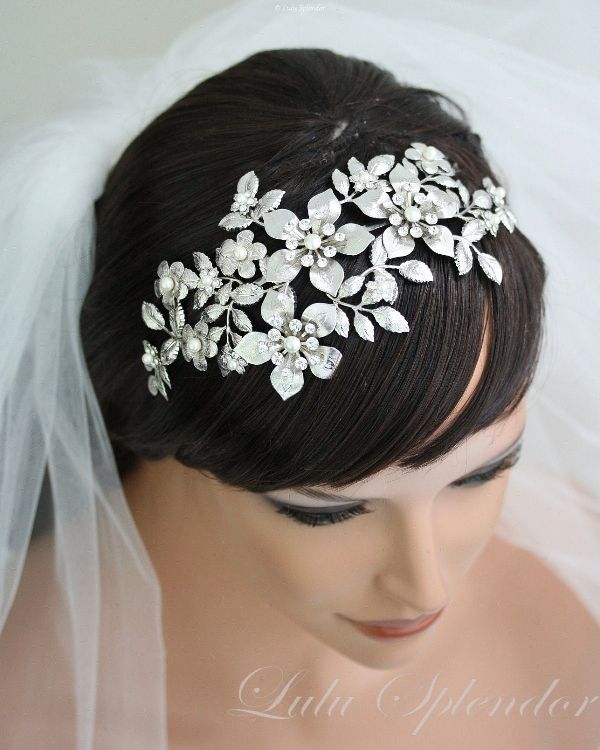 Wedding Hairstyle With Crown: Bridal Flower Crown Wedding Hair Accessories Wedding Bridal