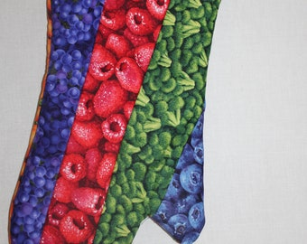Oven Mitt Fruit and Vegetable Cotton Patchwork