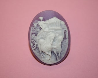 Large Lavender Cinderella Cameo Ring