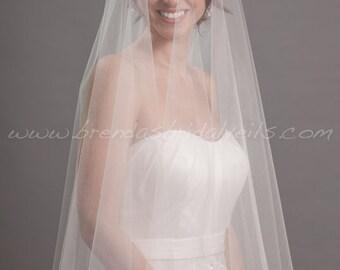 Drop Veil, Bridal Veil Double Layer, Wedding Veil - Devyn Veil