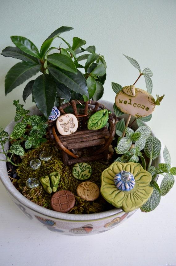 Fairy Garden Kit Mossblossom gift set 9 items by garnetteh ...