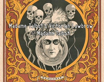 Fortune Teller Poster Madame Talbot's Victorian Lowbrow Great Alexander Seer Past Present Future