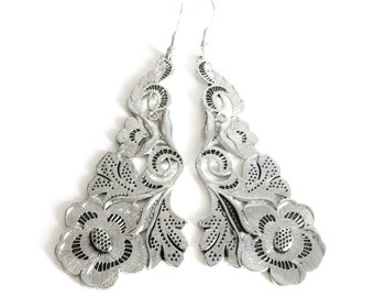 Large Flower Lace Earrings