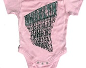 Baby Brooklyn Onesie in Pink Pima Cotton, for Boys and Girls