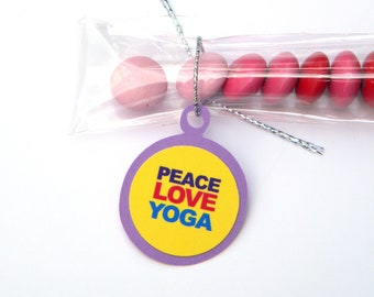 Peace Love Yoga Candy Favor Bags for Treats Favors, Set of 12