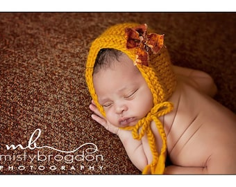 Newborn Baby Hat, Baby Hat, Knit Photo Prop, Baby Bonnet Newborn Baby Girl Hat, Newborn Photo Prop
