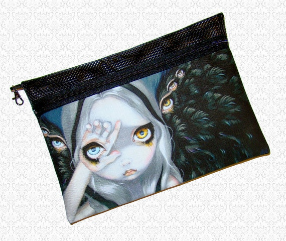 Divine Hand Jasmine Becket Griffith pouch wristlet, travel bag,