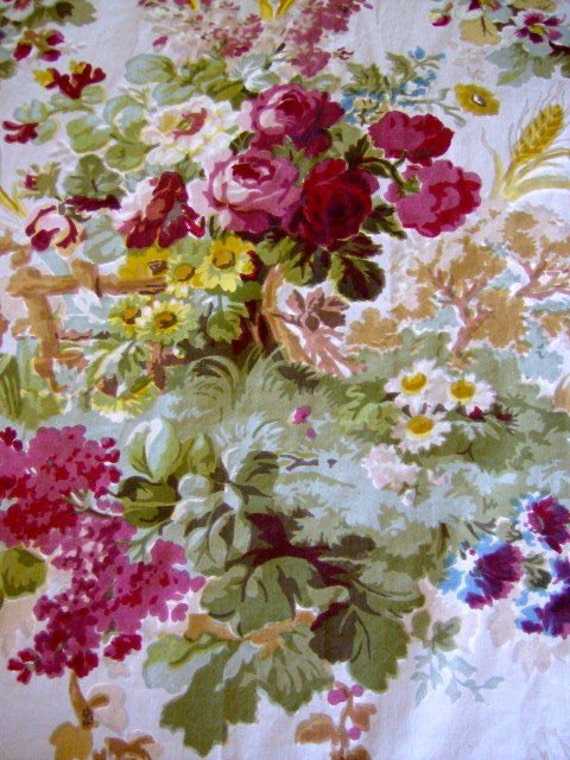 Cottage Rose Upholstery Fabric Decorating Interior Of Your House