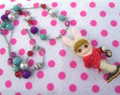 Alice in Wonderland White Rabbit Blythe Belle Necklace
