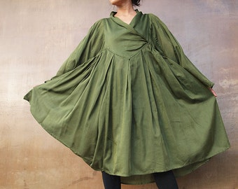 Lotus (1435) dress cotton mixed with silk (one size fits most)
