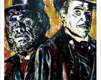 Dr. Jekyll and Mr. Hyde - 12 x 18 high Quality Art Print