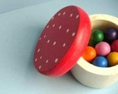 Waldorf Toys - Rainbow Wooden Dolls and Mushroom Box  - Educational Toys / Ready to Ship
