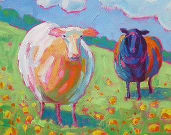 Sheep - Sheep Art - Sheep Print - Giclee Print
